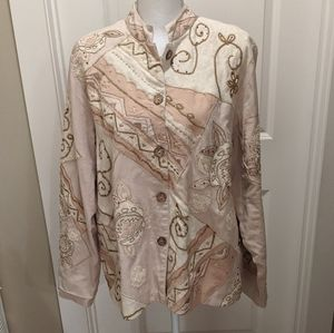 EUC Coldwater Creek Embroidered Jacket Size 1X